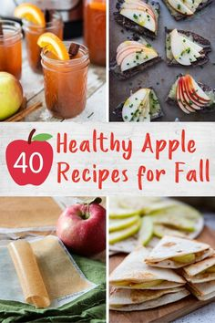 Stock up on apples during peak season for these healthy and tasty apple recipes including breakfasts, snacks, desserts and more! Easy Delicious Recipes, Healthy Breakfast Recipes, Tasty, Apple Recipes, Fall Recipes, Kid Friendly Meals, Fruits And Veggies, Us Foods, Christmas Recipes