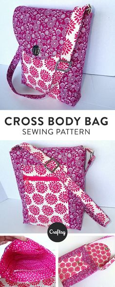 1410097d46da Carry everything you need and stay hands free with this handy Cross Body Bag  pattern.