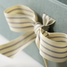 Striped grosgrain