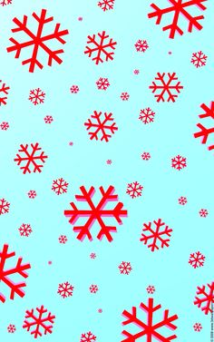 Bright red and blue snowflake iphone wallpaper