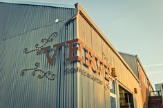 Verve Coffee Roasters Headquarters and Roastery Santa Cruz, California Shop Signage, Retail Signage, Wayfinding Signage, Signage Design, Environmental Graphic Design, Environmental Graphics, Restaurant Concept, Restaurant Ideas, Restaurant Design