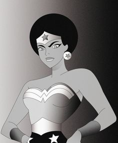 Afro Wonder Woman - Shoes & Board Concept by Arsène Reyco, via Behance