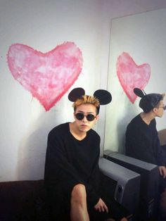 GD Jiyong / G Dragon ♡ mouse ears Daesung, Gd Bigbang, Bigbang G Dragon, Choi Seung Hyun, Big Bang, Kdrama, G Dragon Top, Gd And Top, Yoo Ah In