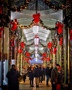 Just got to Paris but here's a photo of a beautifully decorated Arcade in London. #winterwonderland