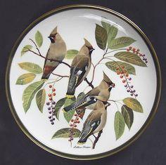 Franklin MintSongbirds of the World: Bohemian Waxwing - Artist: Arthur Singer