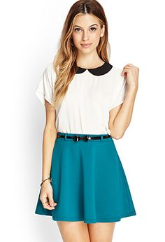 Forever 21 skater skirt with belt
