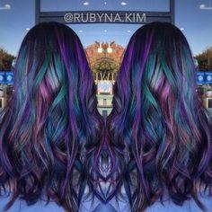 oil slick hair color - Google Search