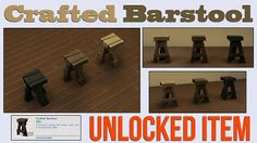 Mod The Sims - Crafted Barstool Unlocked