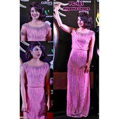 Bollywood Replica-Priyanka Chopra Designer Baby Pink Party Wear Dress-FC161(MJ-FC-157)