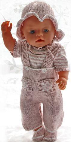 Puppenkleidung stricken anleitung - Ein bequemer und niedlicher Sommeranzug, super passend für Ihre Puppe an einem heißen Sommertag