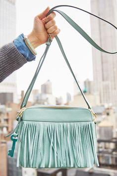 Full on fringe on our classic Sydney Crossbody handbag. This has festival season written all over it!