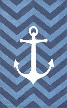 Shanae Hand-Hooked Blue Area Rug