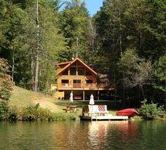 Lake Lure Cabin Rental: Lake Lure Area -gorgeous -waterfront On Mirror Lake In Riverbend | HomeAway
