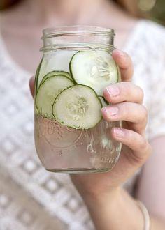 cucumber water.  love.