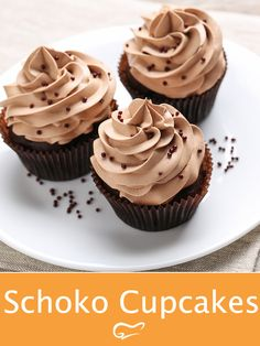 The delicious chocolate cupcakes taste simply irresistible . Dieses schoko… The delicious chocolate cupcakes taste simply irresistible. You will love this chocolatey recipe. Cupcakes Au Cholocat, Healthy Cupcakes, Easy Cupcake Recipes, Healthy Dessert Recipes, Baking Recipes, Cookie Recipes, Cupcake Cakes, Vanille Cupcakes, Best Chocolate Cupcakes