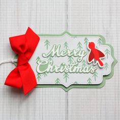Christmas ornament gift tags made with Top Dog Dies Ornament ...