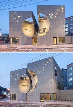 Two moon of moon hoon - Modern Architecture Futuristic Architecture, Facade Architecture, Sustainable Architecture, Contemporary Architecture, Amazing Architecture, Contemporary Building, Unusual Buildings, Modern Buildings, Facade Design