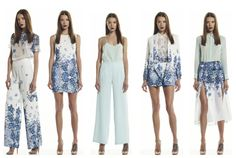 ROSA Autumn/Winter 2013 collection, January drop featuring the Falling Poppies print, available from becandbridge.com.au x