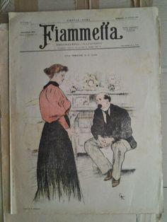 Fiammetta ebdomadario illustrato 1896  Cover by Giorgio Kienerk
