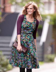 She and Hem | Double Thumbs Dresses #13 | Full Skirt Print Dress