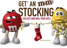 M&M Canada Mail in Rebate – Free M&M Christmas Stocking