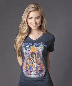 Womens Jimi Hendrix T-Shirt | Hard Rock Shop Mobile