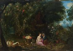 Adriaen van Stalbemt Vertumnus and Pomona in a landscape between 1610 and 1662 oil on copper cm in). Width: cm in). Notes At Berge et Associes, 10 June Paris, Lot 38 Greek Mythology, Large Art, 16th Century, Art Reproductions, Art For Sale, Landscape Paintings, Images, Vans, Hand Painted