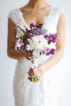 Lavender Wedding #Inspiration at Weirs Lane Lavender Farm | #Purple Bouquet | See more on SMP: http://www.StyleMePretty.com/canada-weddings/ontario/toronto/2014/01/24/lavender-wedding-inspiration-at-weirs-lane-lavender-farm/