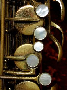 I love how this close-up shot of saxophone keys makes a great piece of abstract art!
