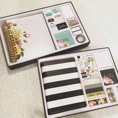 2016 Heidi Swapp Boxed Memory Planner Kit. Love the floral, spiral bound planner pictured on top!
