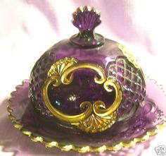 Purple Croesus Butter Dish EAPG | eBay