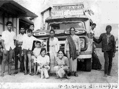 Foto PO. Sinabung Jaya nomor 7 trayek Kabanjahe _ Medan PP, merk Chevrolet tahun 1961 sebagai mobil pengganti dari mobil sedan Plymouth tahun 1956