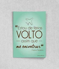 Quadro ou Poster para decorar a sua Casa - Estou de Férias topquadros.com.br