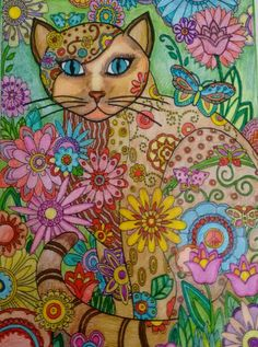 creative cats coloring book pleted pages inspir Cat Coloring Page, Adult Coloring Pages, Coloring Book, Cat Embroidery, Mosaic Pictures, Cat Colors, Cross Stitch Animals, Cross Paintings, Cat Drawing