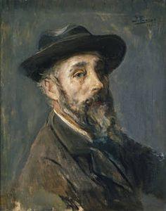 """Ignacio Pinazo Camarlench,""""Autorretrato con sombrero"""", 1901, óleo sobre lienzo, 58 x 45 cm"""
