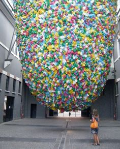 Plastic Bag Art Installation by Pascale Marthine Tayou