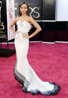 Zoe Saldana at the 2013 #Oscars