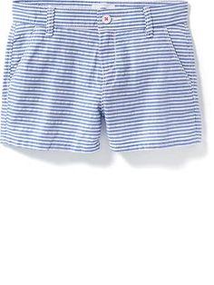 Striped Seersucker Shorts for Girls