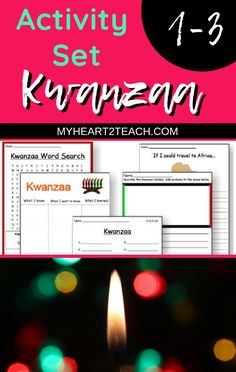 This is a great #printable set to use during the #Kwanzaa season! Use these printable pages for #seatwork, group work, #homework or even in #centers! This Kwanzaa Set Includes: 1 Cut & Paste 1 Acrostic Poetry Page 2 Writing Pages 1 Colored Kinara Poster 1 Symbol Matching Page AND MORE! #iteach #weteach #holiday #season #classroom #teachers #students #empower