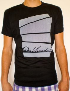 Tshirt for man  black tee  abstract stripes  by librastyle
