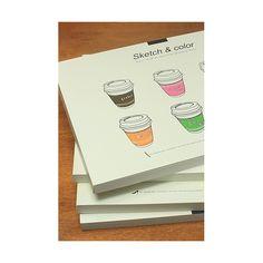 Album da disegno Kawaii 'bicchiere caffè