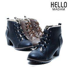 [패션플러스][HELLOMADAM ACC][헬로마담] 속털 워커 (HA5Z020)/컴포트화,단화,워커,부띠,롱부츠,부츠,샌들,헬로마담,중년여성,효도화,플랫 Ganji Fashion