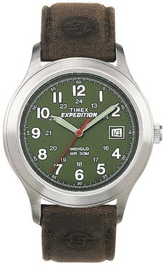 d364f94c70ab Timex Expedition Field Metal Mens Brown Leather Strap Watch T400519J