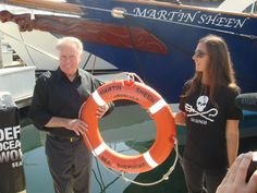 American actor Martin Sheen is a long-term supporter of Sea Shepherd. Sheen, who sits on Sea Shepherd USA's Media and Arts Advisory Board, is a longtime friend of Sea Shepherd Founder, Captain Paul Watson, and has joined Sea Shepherd and Captain Watson on the frontlines to defend ocean wildlife. In October 2014, Sea Shepherd unveiled the research vessel Martin Sheen to study the plastic debris and microplastics contamination in the oceans, as well as researching marine oil spills.
