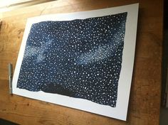 Illustration print large  Australian Starry Sky  to by AmyBrearley, $55.00