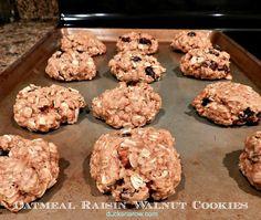 Easy recipe! Classic oatmeal raisin cookies with chopped walnuts :) #recipes