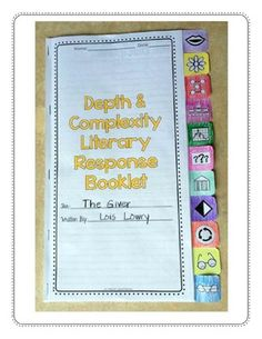 DEPTH AND COMPLEXITY {LITERARY RESPONSE BOOKLET} - TeachersPayTeachers.com