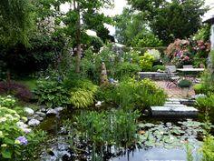 Blogseite - Gartenkeramik Brigitte Peglow Clematis, Pavillion, Garden Bridge, Outdoor Spaces, Outdoor Structures, Plants, Gardening, Rose Varieties, Hydrangeas