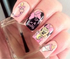 Tips and Topcoat: Baby Minnie Mouse Nail Art ;)