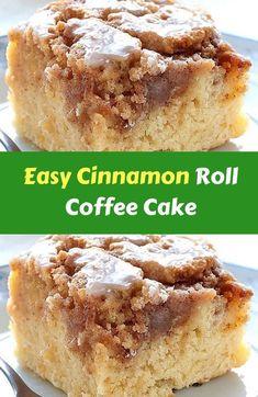 Easy Cinnamon Roll Coffee Cake Easy Cinnamon Roll Coffee Cake is easy and quick . - Easy Cinnamon Roll Coffee Cake Easy Cinnamon Roll Coffee Cake is easy and quick …, - Cake Recipes From Scratch, Easy Cake Recipes, Easy Desserts, Healthy Recipes, Cinnamon Desserts, Cinnamon Bun Cake, Cinnamon Streusel Coffee Cake, Cinnamon Roll Muffins, Cinnamon Swirl Bread